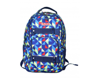 Rucsac Skater, motiv Colorful Harlequin