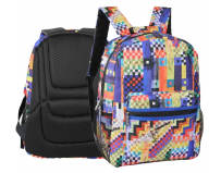 Rucsac cu 2 compartimente, Colorful checkered, Herlitz