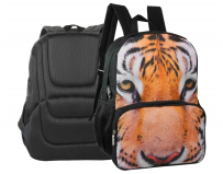 Rucsac cu 2 compartimente, Eyes of the wild Tigru, Herlitz