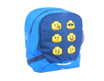 Rucsac scoala LEGO V-Line - design Faces Blue