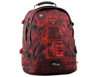 Rucsac Tech Teen, Lego Core Line design Minifigures Burgundy Camo