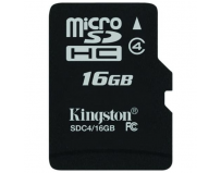 Secure digital card micro sdhc 16gb class 4 kingston (sdc4/16gbsp)