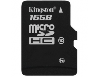 Secure digital card micro sdhc 16gb class10 kingston, adaptor sd (sdc10/16gb)