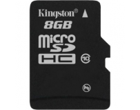 Secure digital card micro sdhc 8gb class10 kingston, adaptor sd (sdc10/8gb)