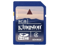 Secure digital card sdhc 8gb class 4 kingston (sd4/8gb)