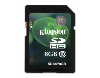 Secure digital card sdhc 8gb class10 kingston (sd10v/8gb)