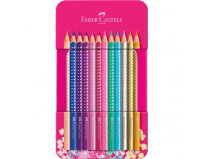 Set 12 Creioane Colorate Sparkle Faber-Castell