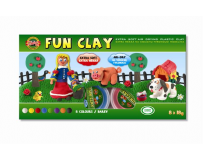 Set plastilina modelatoare 8 buc, Fun Clay
