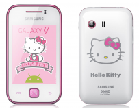 Smartphone Mobil Samsung S5360 Galaxy Y Pure White Hello Kitty