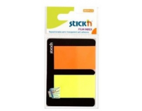 "Stick index plastic transparent color 45 x 25 mm, 2 x 25 file/set, Stick""n - 2 culori neon"