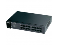 "Switch gigabit 16 porturi 10/100/1000mbps, fanless, 802.3az green, 19"" rackmount, zyxel gs1100-16 (91-010-235001b)"