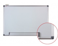 Whiteboard magnetic cu rama de aluminiu 120x240 Optima+set markere EK-517