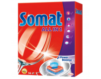 Detergent de vase tablete Somat All in One, 56 buc