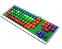 Tastatura multicolora educationala, Omega OK-200