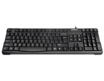Tastatura ps2 a4tech comfort round black (kr-750-usb), wired cu 109 taste inscriptionate laser, tasta suplimentara backspace si rezistenta la apa