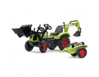 Tractor cu Pedale Claas Arion 430 cu Cupa, Excavator si Remorca
