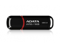 Usb stick adata uv150 16gb usb 3.0, black (auv150-16g-rbk)
